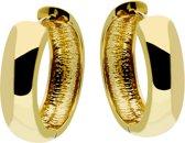 Classics&More - Gouden Creolen Glanzend - Ronde Buis - 18 x 5 mm
