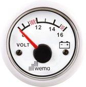 Wema voltmeter / 12V wit