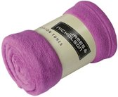 Microvezel fleece deken paars