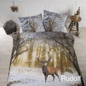 Papillon Rudolf - dekbedovertrek - tweepersoons - 200 x 200/220 - Multi