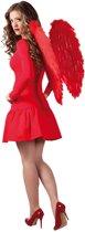 Rode vleugels 65 x 65 cm groot
