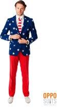 OppoSuits Stars and Stripes - Mannen Kostuum - Gekleurd - Feest - Maat 62