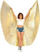 Isis 360 graden geplooide glanzende vleugel cape goud - Kostuum Party - Leg Avenue (O/S)