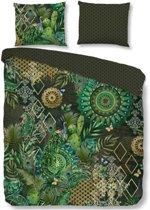 HIP Botalia - Flanel - Dekbedovertrek - Tweepersoons - 200x200/220 cm + 2 kussenslopen 60x70 cm - Green