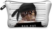 Zumprema Bad Cat - Make-up Etui - Zwart/Wit