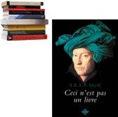 zwevende boekenplank Selfshelf Ceci n'est pas un livre   man blauwe tulband
