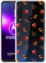 Motorola One Macro Hoesje Apples and Birds
