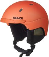 Titan Skihelm Matte neon orange