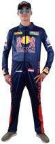 Formule 1 Kostuum | Supersnel Formule 1 Race Overall Max | Man | Maat 54 | Carnaval kostuum | Verkleedkleding
