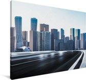 Uitzicht op de gebouwen in Shenzhen Canvas 60x40 cm - Foto print op Canvas schilderij (Wanddecoratie woonkamer / slaapkamer) / Aziatische steden Canvas Schilderijen