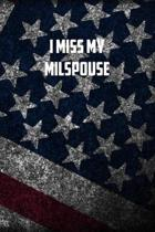 I miss my milspouse: 6x9 Journal christmas gift for under 10 dollars military spouse journal