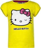Hello Kitty t-shirt geel 116