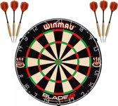 Winmau blade 5 dartbord incl. 2 sets ABC Darts 23 grams Dartpijlen