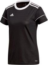 adidas Squad 17 SS Jersey Teamshirt Dames  Sportshirt performance - Maat L  - Vrouwen - zwart/wit