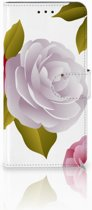 Motorola Moto E5 Uniek Boekhoesje Roses