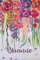 Brianne: Personalized Lined Journal - Colorful Floral Waterfall (Customized Name Gifts)