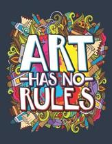 Art Has No Ruled: Artist Sketch Pad, Blank Paperback Anime Sketchbook, 100 pages