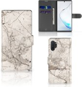 Bookcase Samsung Galaxy Note 10 Plus Marmer Creme