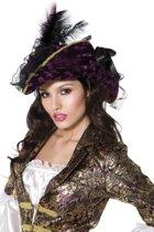 Paarse piratenhoed voor vrouwen - Verkleedhoofddeksel