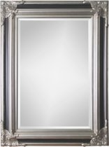 Spiegel - Paola- zwart / zilver - buitenmaten breed 90 cm x hoog 150 cm.