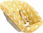 UKJE.NL Hoes voor newborn set Stokke TrippTrapp - Gele giraffen ♥