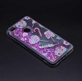 Teleplus Xiaomi Mi Max 2 Liquid Silicone Case Purple hoesje