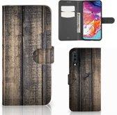 Samsung Galaxy A70 Book Style Case Steigerhout