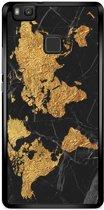 Huawei P9 Lite hoesje - Wereldmap