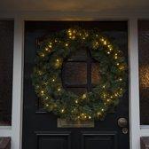 Kerstkrans Den warm wit LED 90cm