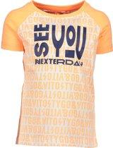 TYGO & vito Jongens T-shirt - neon orange - Maat 122/128