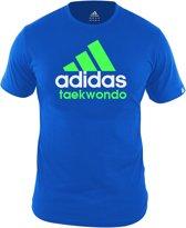 adidas Community T-Shirt Blauw/Groen Taekwondo Small