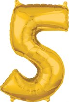 26 Number 5 Gold 26 Inch Foil Balloon P31 packed 45 x 66cm