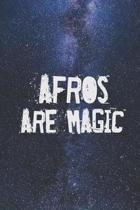 Afros are Magic - Funny Humor Journal