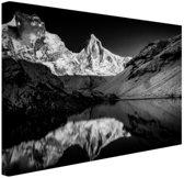 Kedartal  zwart-wit Canvas 80x60 cm - Foto print op Canvas schilderij (Wanddecoratie woonkamer / slaapkamer)