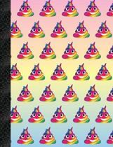 My Super Cute Rainbow Poop Emoji 2x2 Quad Graph Paper Notebook