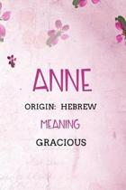 Anne Hebrew Gracious