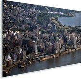 Luchtfoto van Porto Alegre aan de oevers van Rio Gauiba in Brazilië Plexiglas 180x120 cm - Foto print op Glas (Plexiglas wanddecoratie) XXL / Groot formaat!