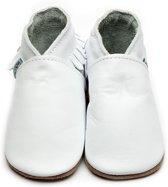 Inch Blue babyslofjes moccasin white maat S (10,5 cm)