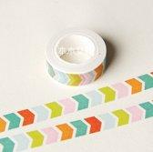 Washi Tape Gekleurde Pijltjes 10m.