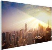 New York in december Glas 90x60 cm - Foto print op Glas (Plexiglas wanddecoratie)