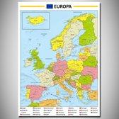 Poster kaart Europa XL 100x140cm
