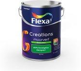 Flexa Creations Muurverf - Extra Mat - Mengkleuren Collectie - 85% Eucalyptus  - 5 liter