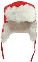 Fun & Feest Kerstmis - Muts - Kinderen - Unisex - Rood/Wit