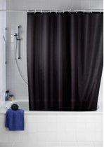 Uni - Douchegordijn - Polyester - Anti Schimmel - 180x200 cm - Zwart