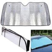 Opvouwbare Reflecterende Zonwering voor Auto Raam - Inclusief Zuignappen - 60 x 130 cm   Houdt Warmte Tegen en Beschermt Interieur Tegen UV Straling   In de Winter Geschikt Tegen Bevriezing Voorruit   Opvouwbaar Reflecterend Zonnescherm   Met