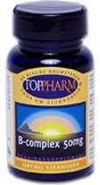 Toppharm Vitamine B Complex 50 mg - 120 Tabletten  - Vitaminen