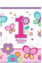 Tafelkleed plastic 1e verjaardag meisje