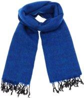 MoreThanHip Pina - Brede Sjaal - Yakwol - Koningsblauw