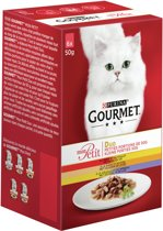 Gourmet Mon Petit Duo - Vlees - Kattenvoer - 6 x 50 g