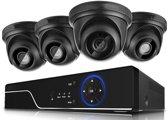 Full HD 1080P Beveiligingscamera set met 4 Camera's Indoor